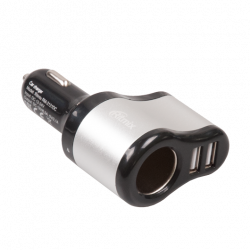 auto charger ritmix rm-2121dc black-silver